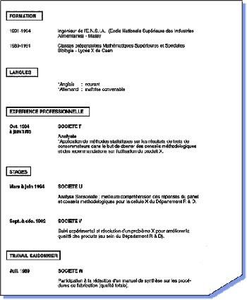 Exemple De Cv Sans Experience Professionnel