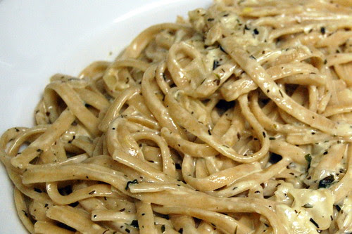 linguine with vodka and herb sauce
