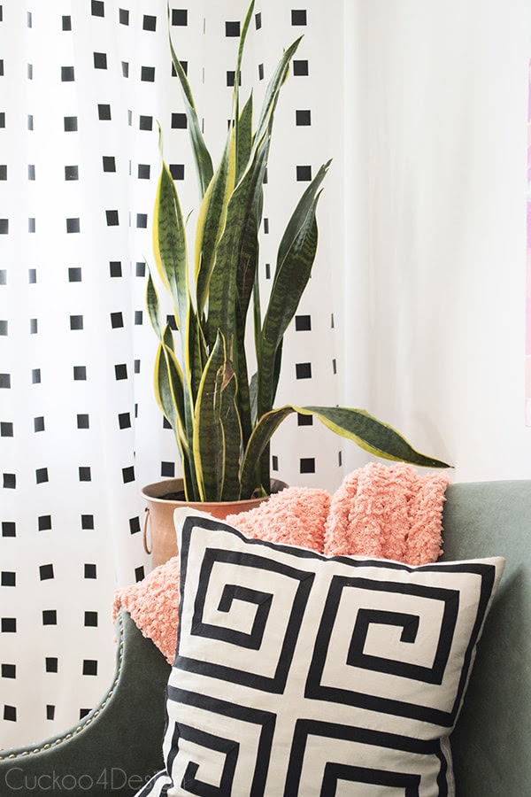No Paint Black And White Diy Curtains Cuckoo4design