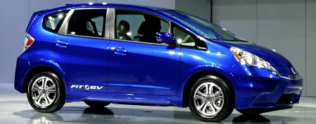 Honda Fit electric car. (AP Photo/The Yomiuri Shimbun, Taro Koyano)