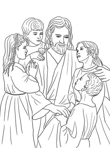 Coloriage Jésus Aime Tous Les Enfants Du Monde Coloriages à