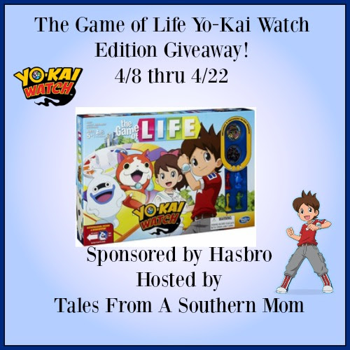 Enter The Game of Life Yo-Kai Watch Edition Giveaway. Ends 4/22