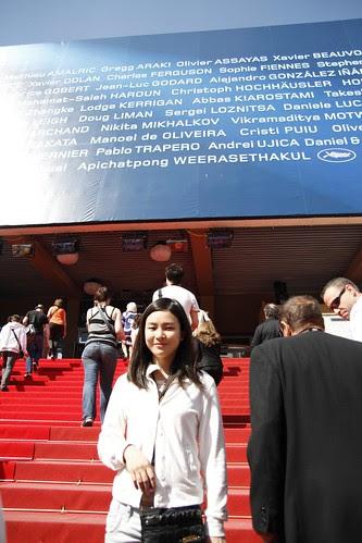 Fooi Mun before the screening of Abbas Kiarostami's CERTIFIED COPY