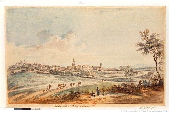 Vue de la Ville de Bourg en Bresse : [dessin] / lallemand f.