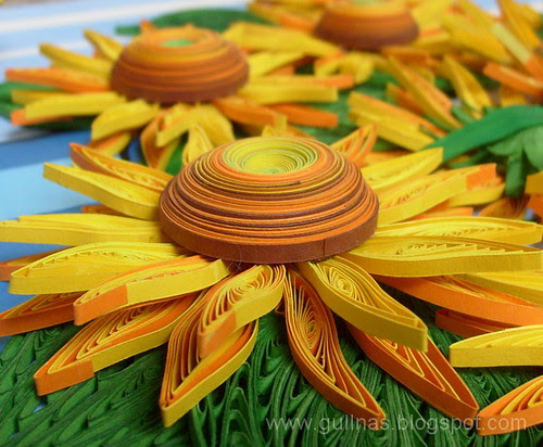 Quilled sunflowers