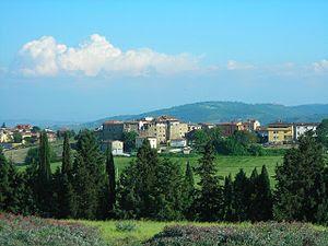 skyline of Brufa, frazione of Torgiano, Perugi...