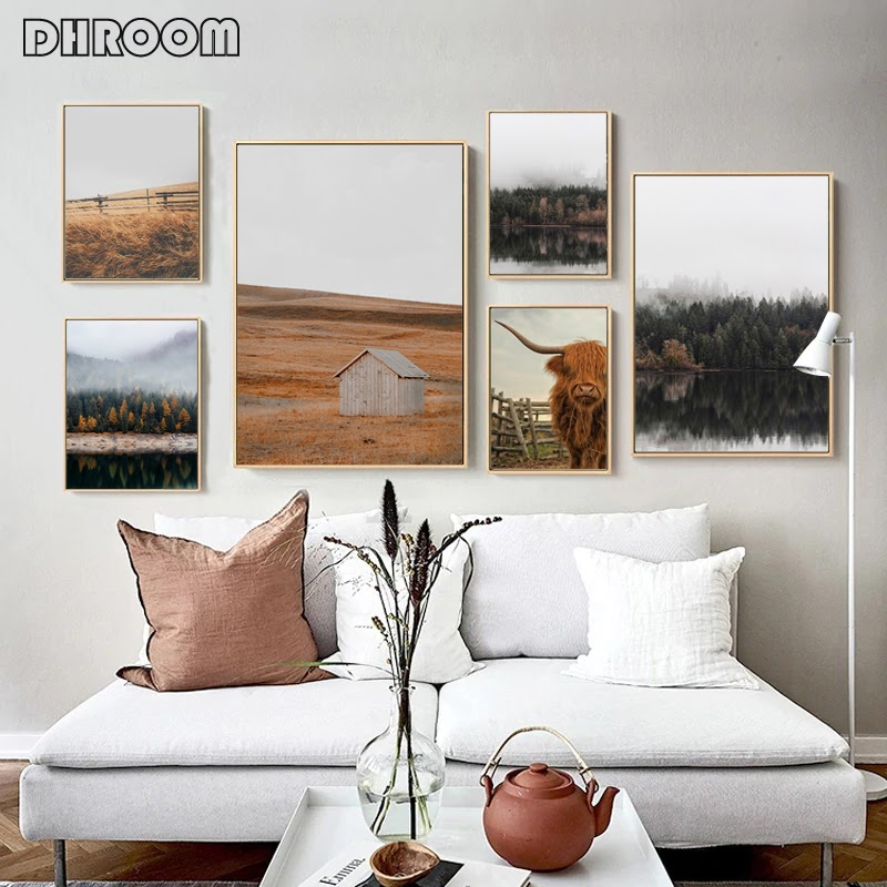 Ideas For Living Room Farmhouse Style Wall Art wallpaper