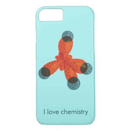 Custom Text Geek Methane Molecule Love Chemistry iPhone 7 Case