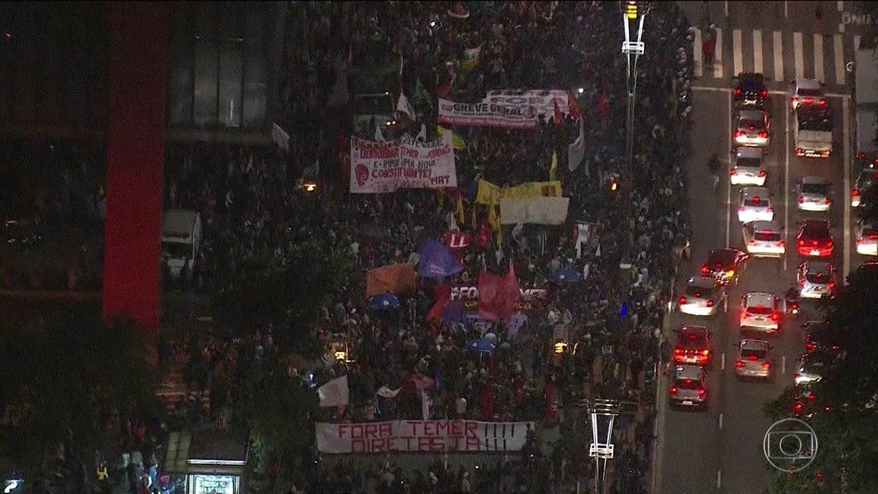 Após pronunciamento de Temer, capitais registram protestos