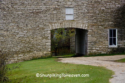 Archway of Drive-through Stone Barn, Filmore County, Minnesota