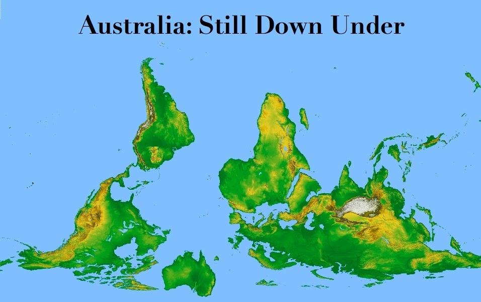 Afternoon Map Australia Still Down Under