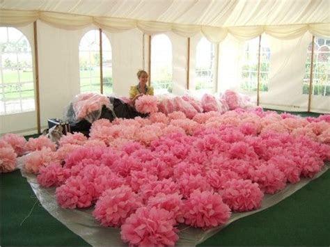Tissue Paper Pom Poms  Hot Pink  Wedding Decoration