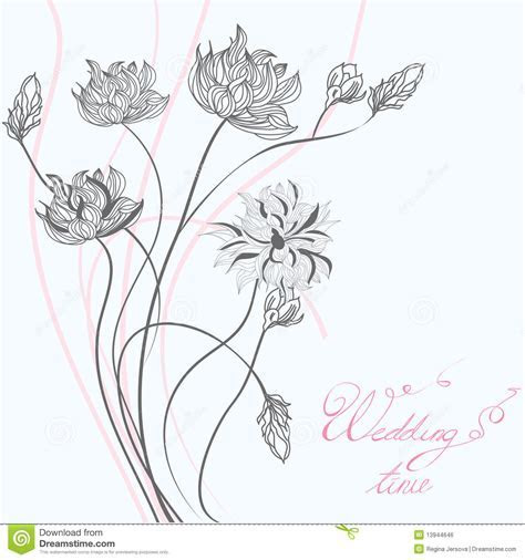 Template For Wedding Greeting Card Royalty Free Stock