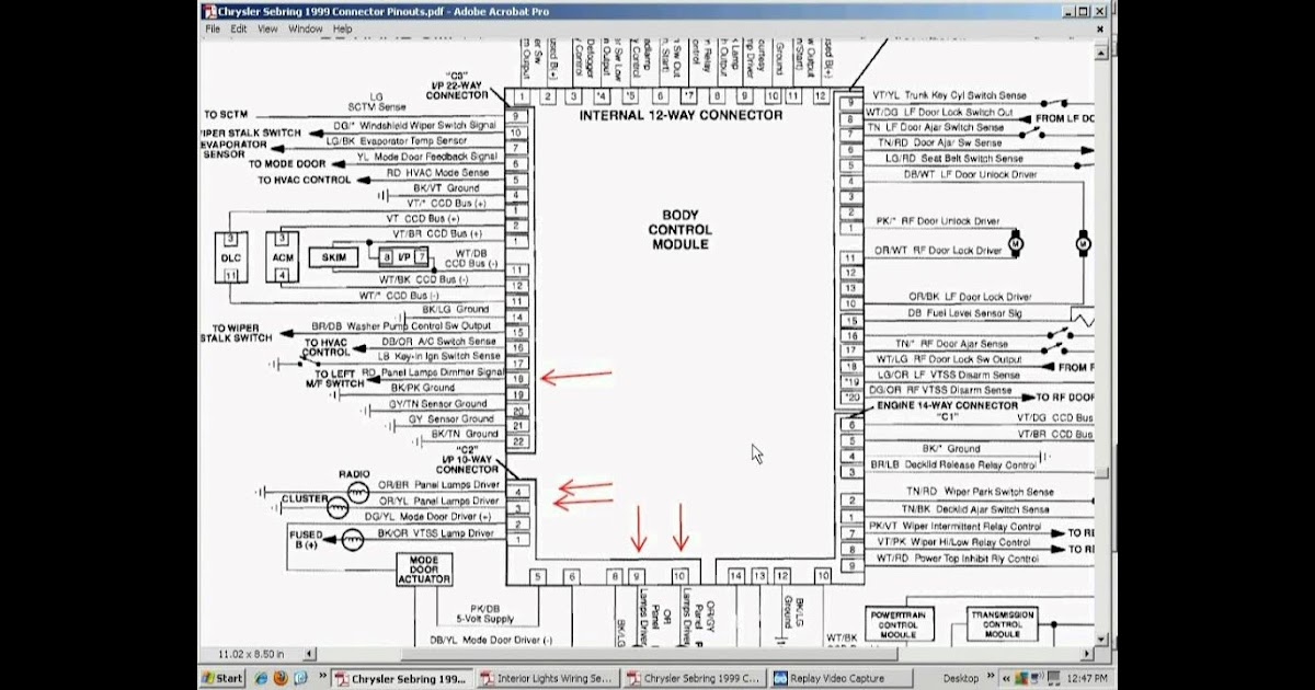 Wiring Diagram  13 2004 Chrysler Sebring Wiring Diagram