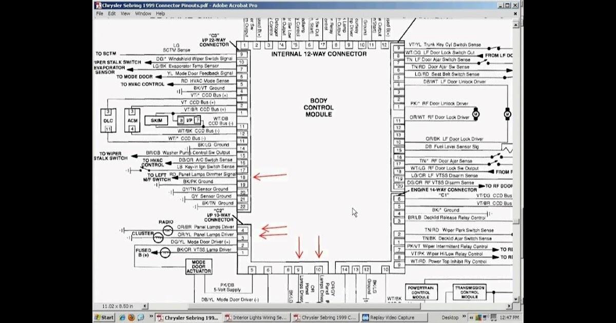 Wiring Diagram: 13 2004 Chrysler Sebring Wiring Diagram