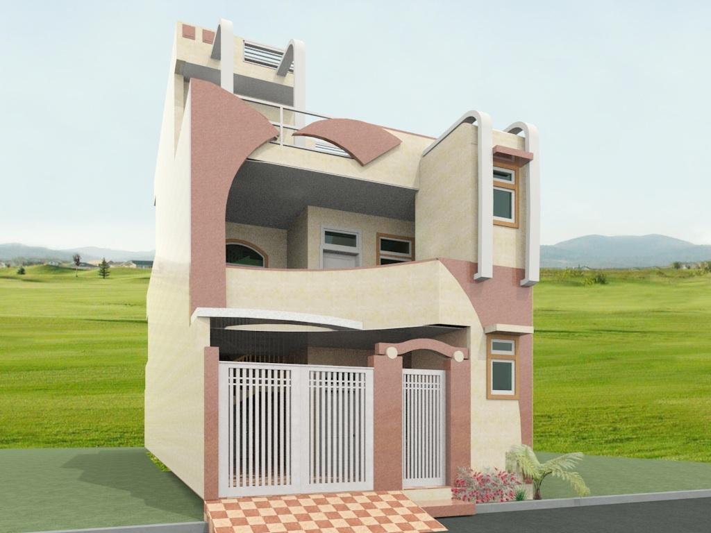 Home Architec Ideas Double Floor Front Side House Front Elevation Double Floor Home Elevation Design