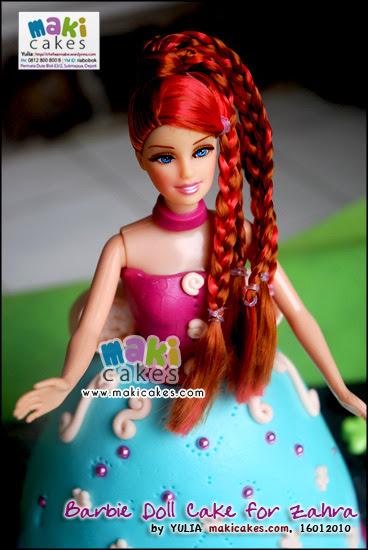 Barbie Cake For Zahra Mama Kintan Kinar Bagas Belajar Masak