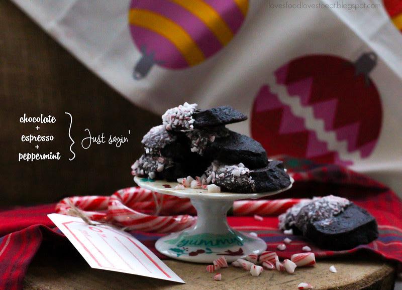 #fbcookieswap Peppermint Mocha Icebox Cookies // Loves Food, Loves to Eat