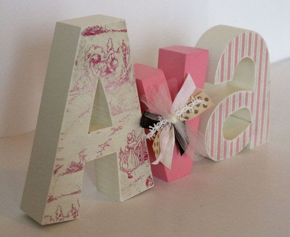 Wooden Letters for Baby Girl Nursery