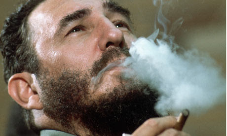 Fidel Castro smoking cigar