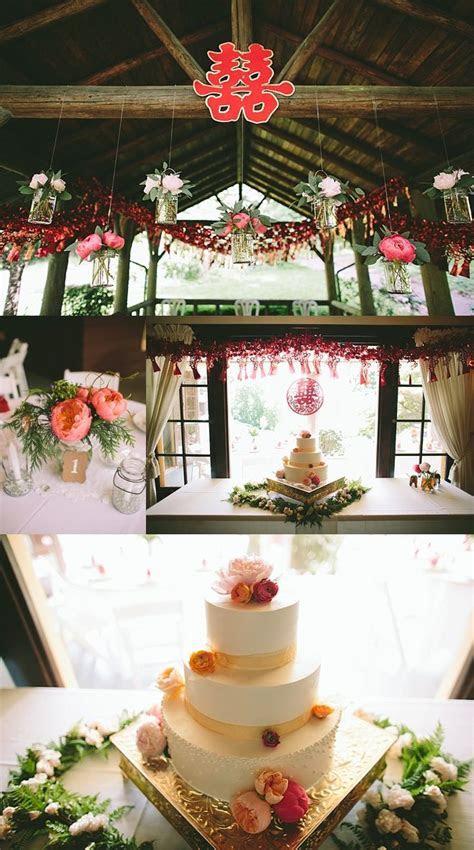 oregon chinese tea ceremony wedding pink decor   Weddings