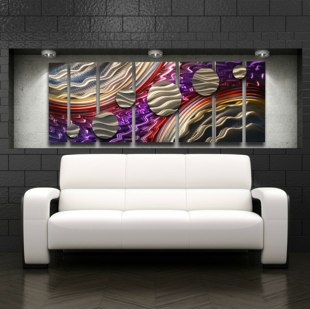 Large Metal Wall Art Panels Modern Contemporary Abstract ...