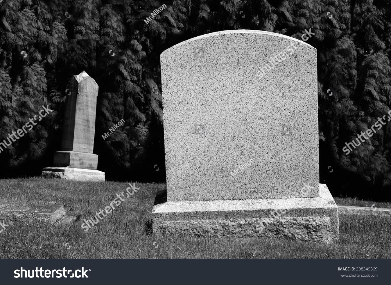 Spooky Blank Tombstones Stock Photo 208349869 - Shutterstock