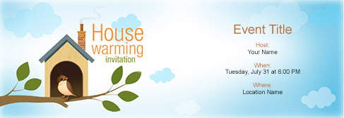 Free House Warming invitation with India