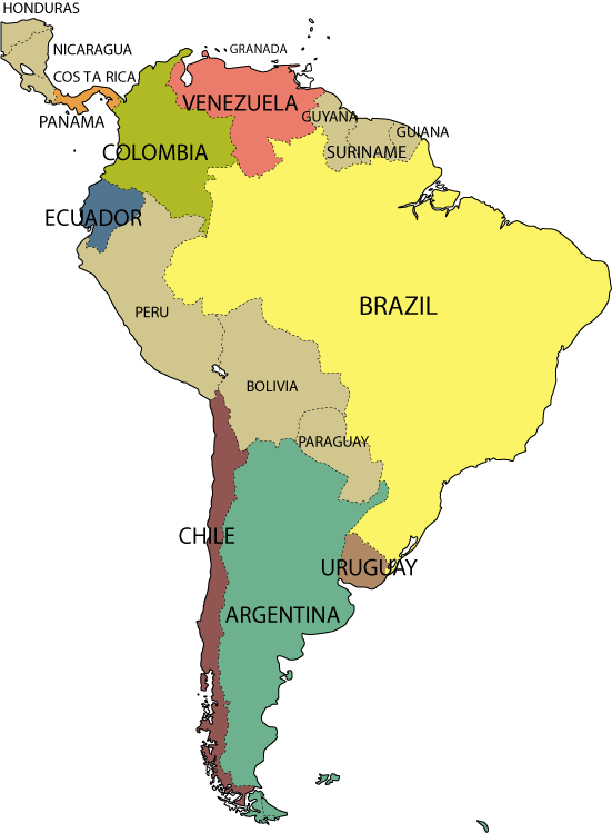 25 Awesome Mapa De Sudamerica