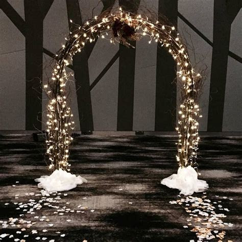 Fairy Light Arch with Willows   Singapore wedding in 2019