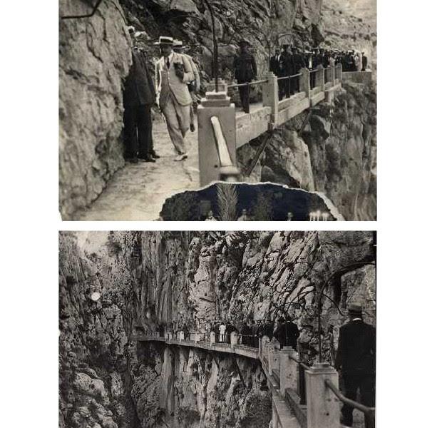 Caminito del Rey, no início do século XX (Foto: Divulgação Caminito del Rey)