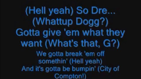 Dr Dre Like This And Like That Lyrics