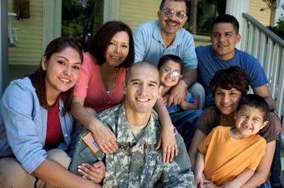 A veteran and his family