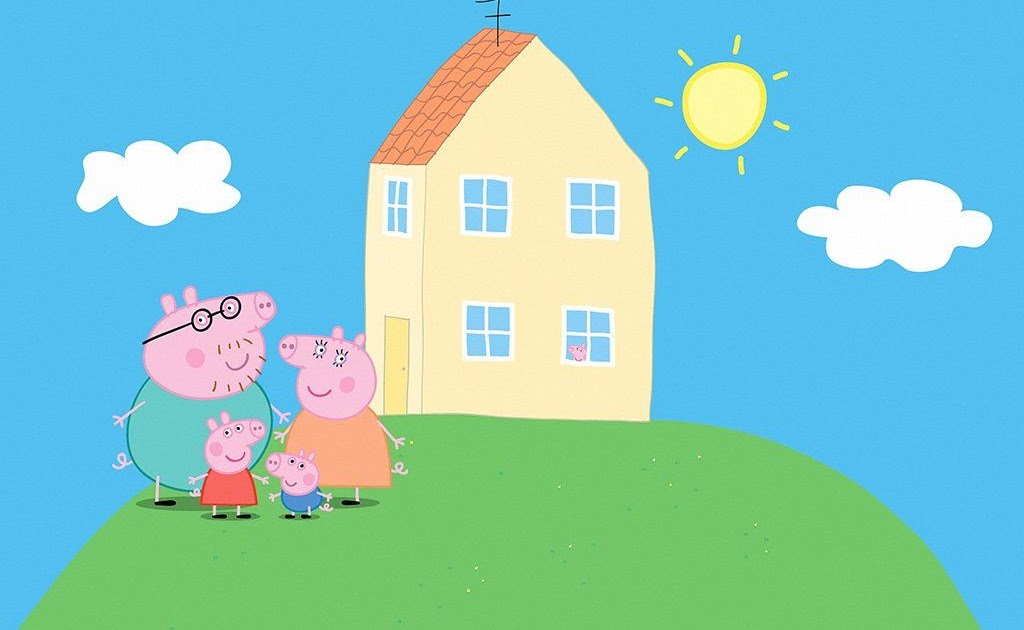 Peppa Pig In Front Of House - Peppa Pig