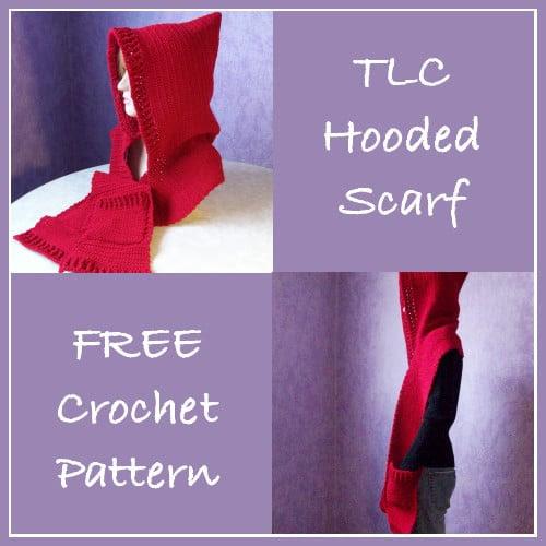 TLC Hooded Scarf - Free Crochet Pattern