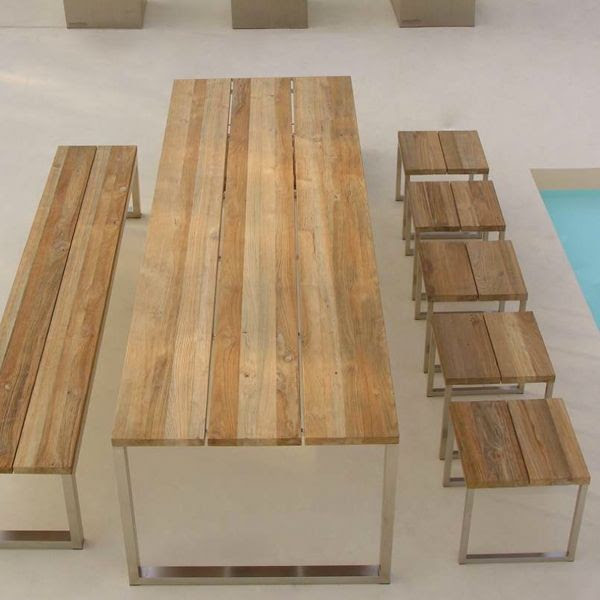 Recycled Teak Outdoor Dining Table - - outdoor tables - chicago ...
