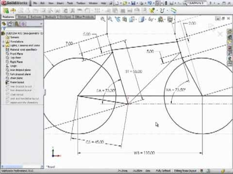 dsid fa10  bicycle frame geometry  solidworks tutorial