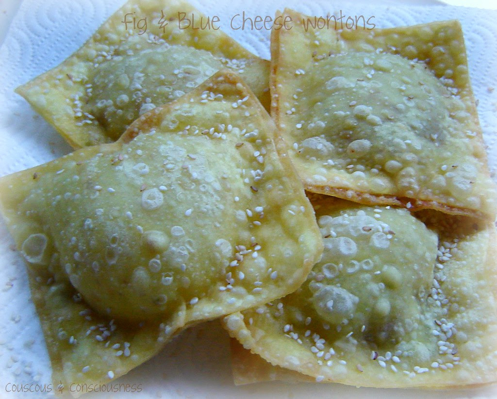 Fig & Blue Cheese Wontons 2, croppes
