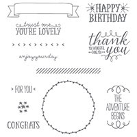 You're So Lovely Photopolymer Stamp Set by Stampin' Up!