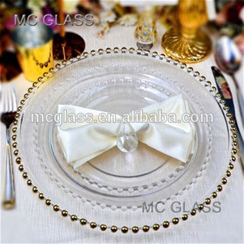 Wholesale Cheap Fancy Decoration Gold Silver Beaded Glass