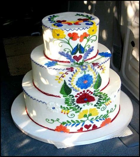 11 best Mexican Embroidery Cake images on Pinterest
