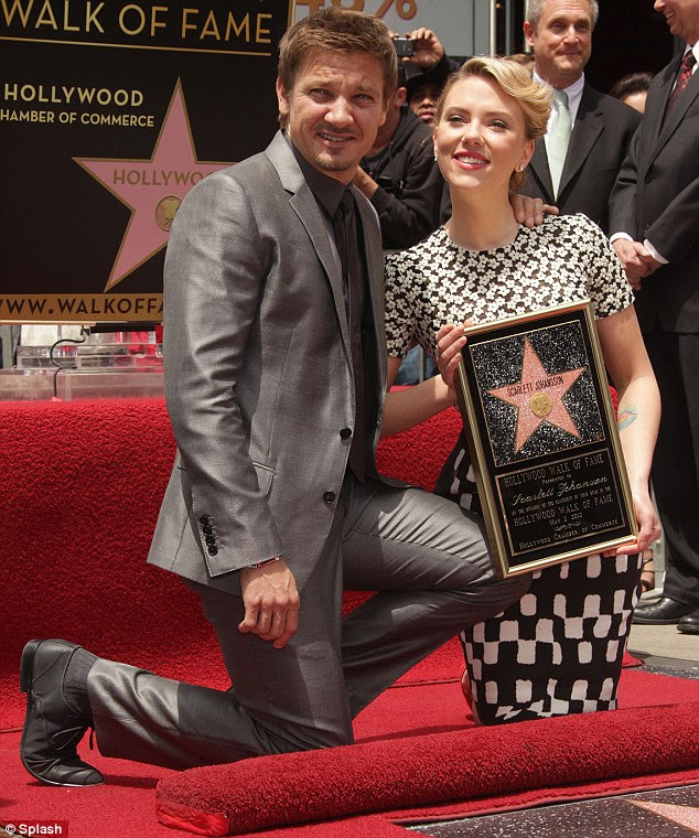 Support: Good friend and Avengers co-star Jeremy Renner was also on hand at the event