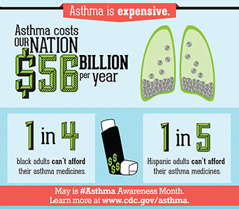 1 in 11 children have Asthma. May is Asthma Awareness Month. Learn more.