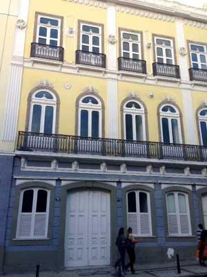 Detalhe da fechada da Casa das Águas após restauração (Foto: Káthia Mello / G1)