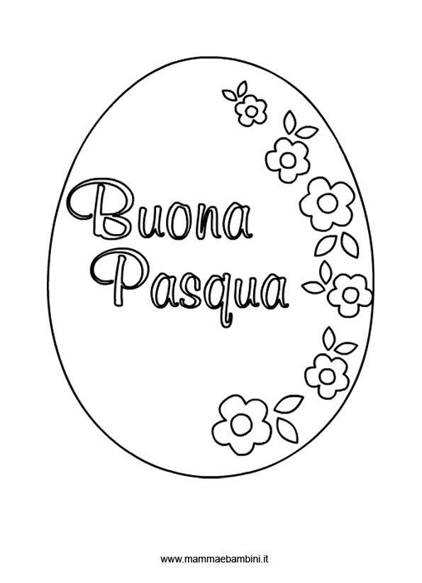 Disegno Uovo Di Pasqua Da Colorare Mamma E Bambini