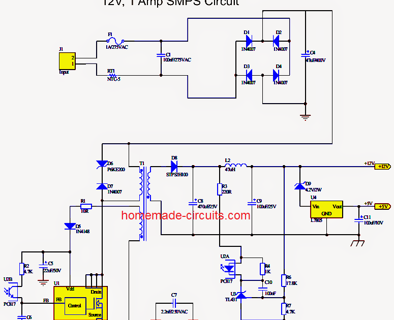 Components Blog 024vdc Digital Pic Power Supply Circuit Diagram