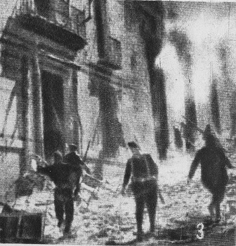 Milicianos republicanos al asalto del Alcázar de Toledo en verano de 1936