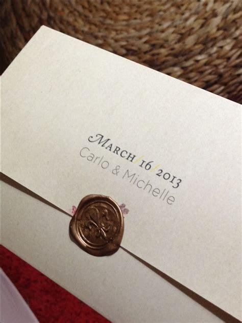 64 best Wedding Wax Seal images on Pinterest   Wedding