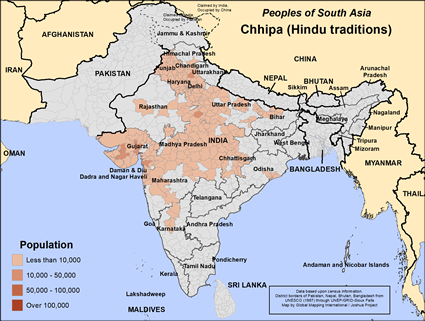 Chhipa, Hindu in India