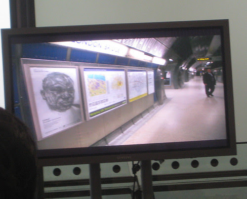 Linear, by Dryden Goodwin at London Bridge Tube